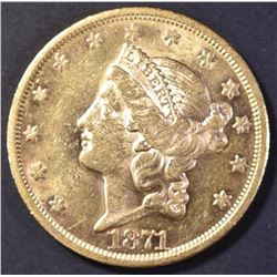 1871-S $20 GOLD LIBERTY CH BU