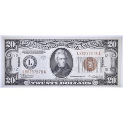 1934-A $20 HAWAII FEDERAL RESERVE NOTE