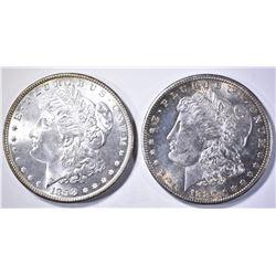 1880-S & 1898 MORGAN DOLLARS CH BU