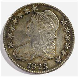 1823 BUST HALF DOLLAR, AU