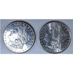 (2) MORGAN DOLLARS: 1881-S & 1902-O