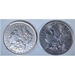 (2) MORGAN DOLLARS CH BU: 1889-0 & 1900