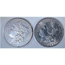 (2) MORGAN DOLLARS: 1896 & 1900  BU