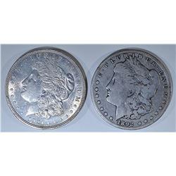 (2) MORGAN DOLLARS: 1921-D CH BU &