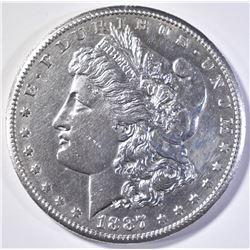 1887-S MORGAN DOLLAR   AU/BU