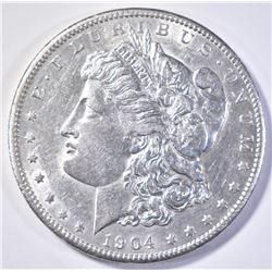 1904-S MORGAN DOLLAR  AU/BU