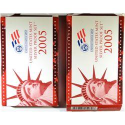 2-2005 U.S. SILVER PROOF SETS
