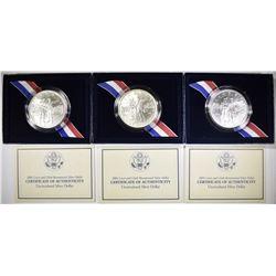 3-2004 LEWIS & CLARK UNC COMMEM SILVER DOLLARS
