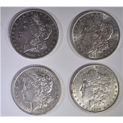 (4) AU MORGAN DOLLARS: 1882-O, 1887,