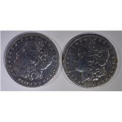 (2) MORGANS: 1878-CC F & 1890-CC F/VF