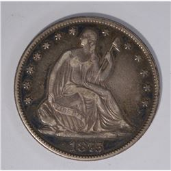 1875 SEATED HALF DOLLAR VF/XF
