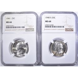 2-NGC GRADED WASHINGTON QUARTERS
