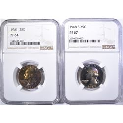 2 NGC GRADED WASHINGTON QUARTERS: