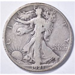 1921 WALKING LIBERTY HALF DOLLAR, FINE