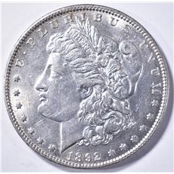 1892 MORGAN DOLLAR, CH BU KEY DATE