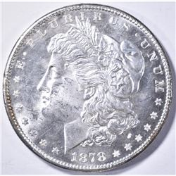 1878-S MORGAN DOLLAR, CH BU PROOF-LIKE