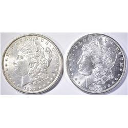 1879-S & 1887 CH BU MORGAN DOLLARS