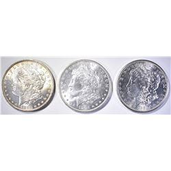 1881-S, 83-O & 1904-O CH BU MORGAN DOLLARS