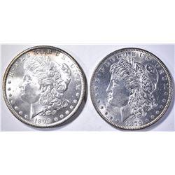 1879 & 99-O CH BU MORGAN DOLLARS