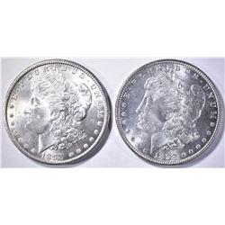 1898 & 98-O CH BU MORGAN DOLLARS