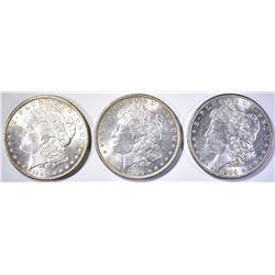 1888, 89 & 90 CH BU MORGAN DOLLARS