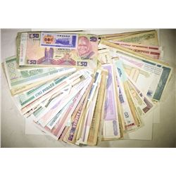 OVER 200 PIECES FOREIGN CURRENCY