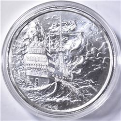 2-OUNCE .999 SILVER PRIVATEER ROUND IN CAPSULE