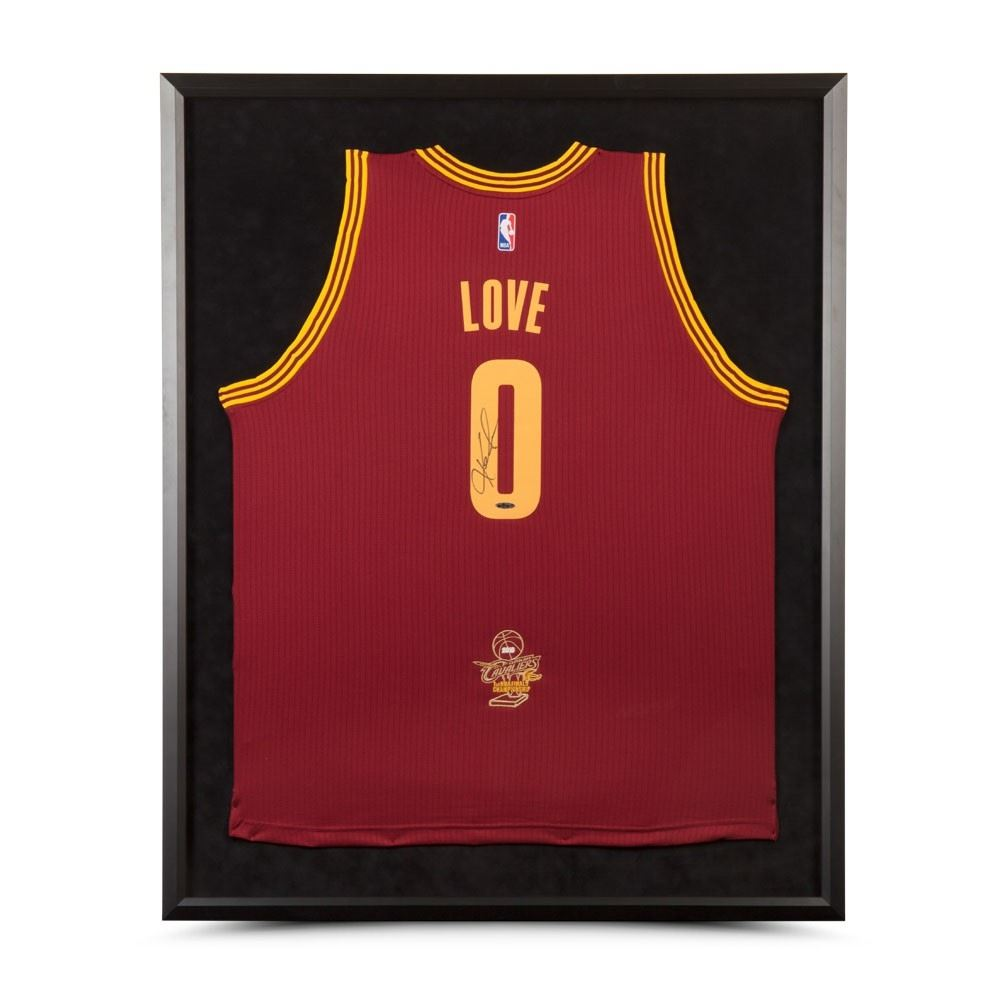 purchase cheap d80e9 c7f13 Kevin Love Signed Cavaliers 2016 NBA Finals 32x38 Custom ...