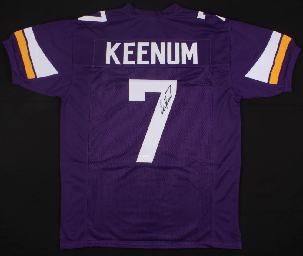 new product cdb32 b13f3 Case Keenum Signed Minnesota Vikings Jersey (JSA COA)