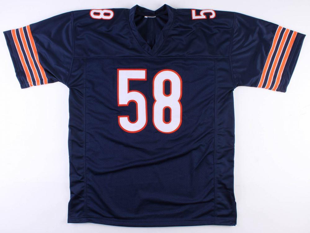 meet 81143 4d63c Roquan Smith Signed Bears Jersey (Schwartz COA)