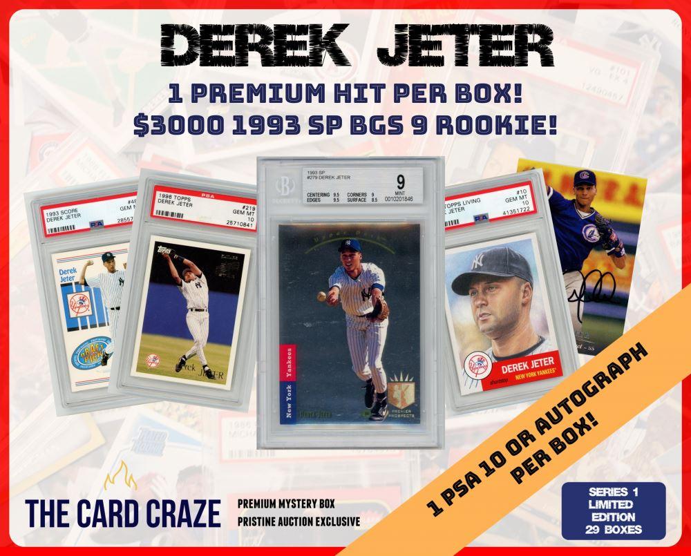 The Card Craze Derek Jeter Premium Baseball Card Mystery Box 1 Hit