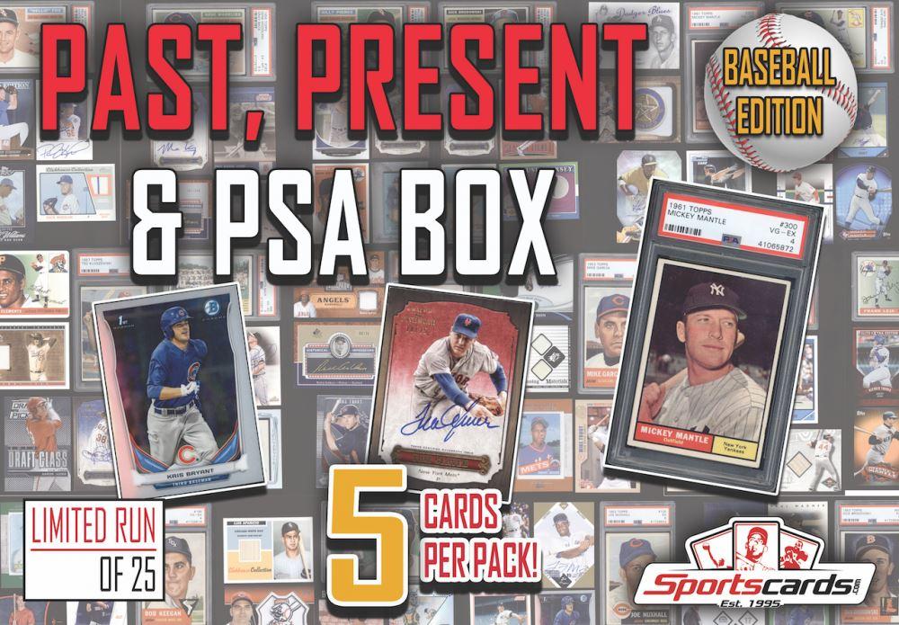 âœpast Present Psa 10â Baseball Card Mystery Box â 5 Hits Per
