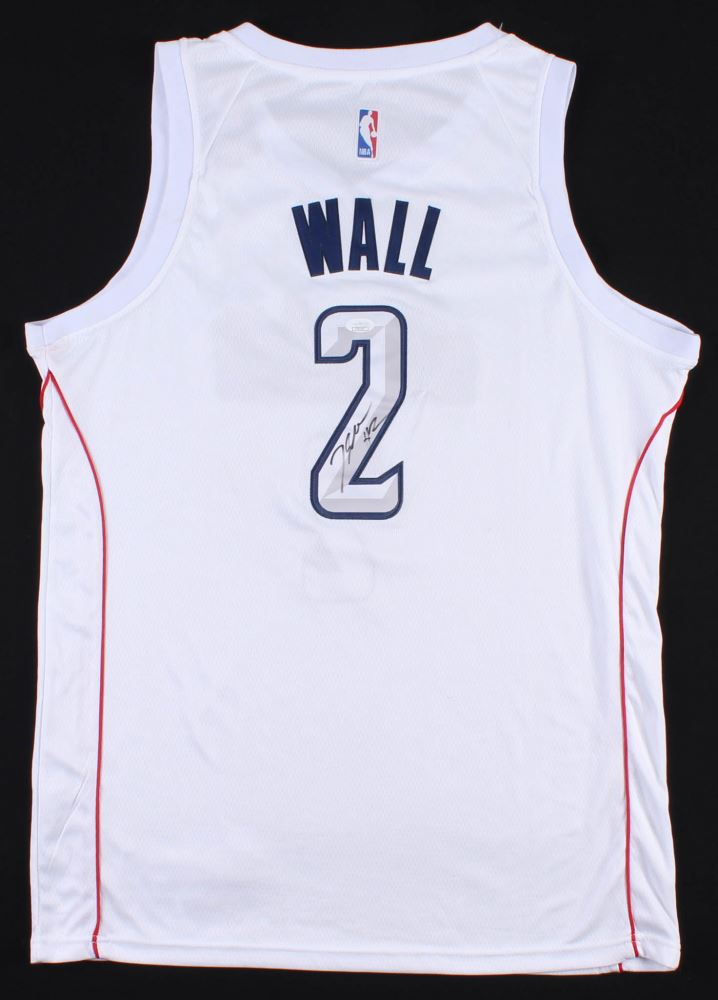 quality design 01788 0cc6b John Wall Signed Washington Wizards Nike Jersey (JSA COA)