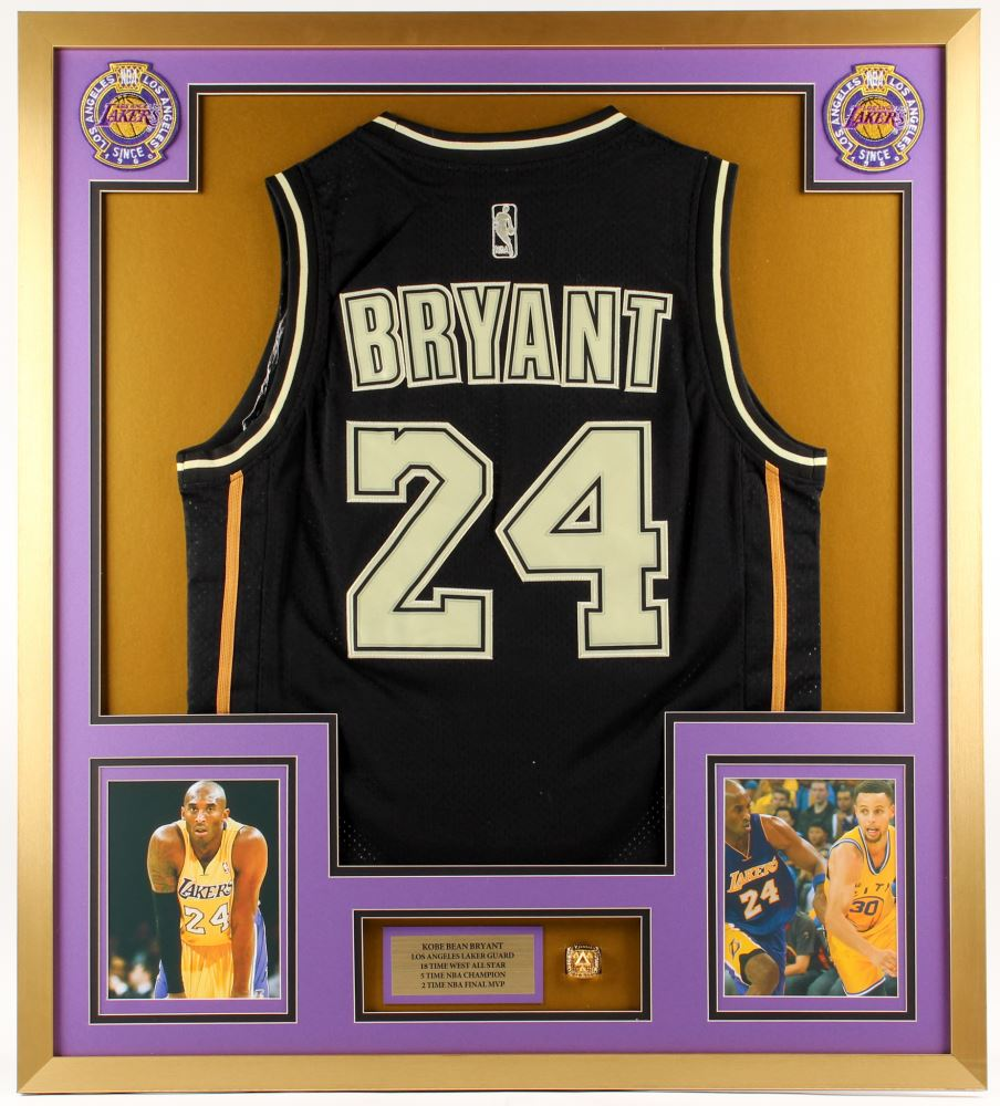 quality design a3fdf 95c60 Kobe Bryant Los Angeles Lakers 32x36 Custom Framed ...