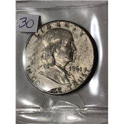 1961 D Silver Franklin Half Dollar Nice Early US Coin