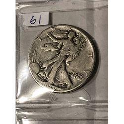 1941 P Silver Walking Liberty Half Dollar Nice Early US Coin