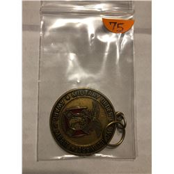 Military Challenge Token Military Order Of World Wars Award Of Merit