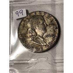 1962 D Silver Franklin Half Dollar Nice Early US Coin