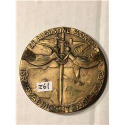 Huge 1965 St Augustine Florida BRONZE Medal