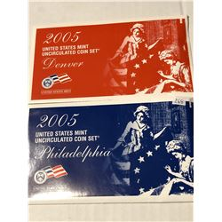 2005 P D US Mint Set in Original Packages