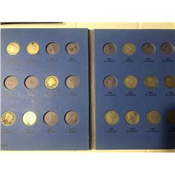 1883 to 1913 Liberty Head V Nickel Coin Collection in Bok includes 1883 with & Without CENTS, 1888 &