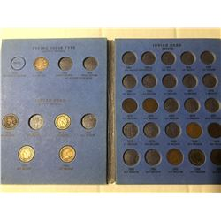 1856 To 1909 Flying Eagle/Indian HeadCents Coin Collection in Book includes 60s & 70s Collection has