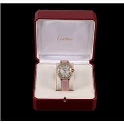 Cartier 18KT Yellow Gold 2.00 ctw Diamond Ballon Bleu Ladies Watch