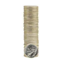 Roll of (50) 1957-D Brilliant Uncirculated Roosevelt Dimes