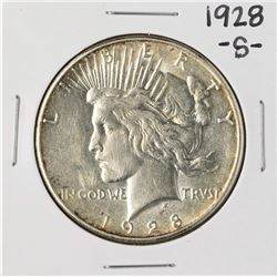 1928-S $1 Peace Silver Dollar Coin