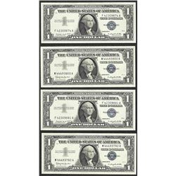 Lot of (4) 1957A/1957B $1 Silver Certificate Notes