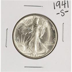 1941-S Walking Liberty Half Dollar Coin