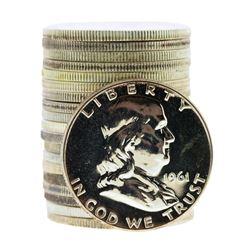 Roll of (20) 1961 Proof Franklin Half Dollar Coins