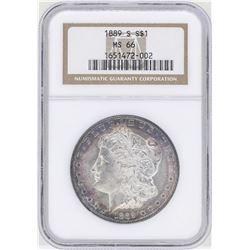 1889-S $1 Morgan Silver Dollar Coin NGC MS66