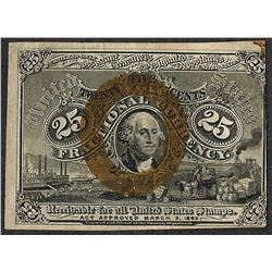 March 3, 1863 Twenty Five Cents Second Issue Fractional Currency Note
